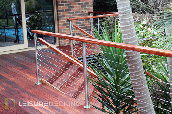 Wire Balustrade for Decking